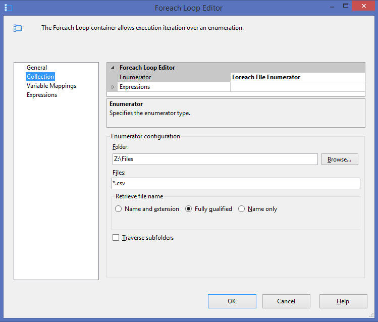 Using a Regular Expression as a File Filter in SSIS | Sean