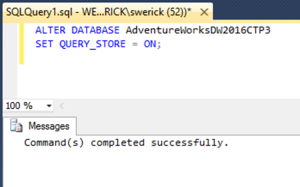 Setting up Query Store 3